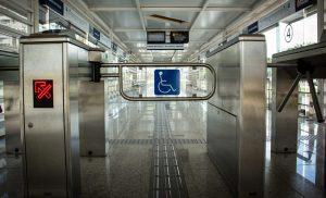 Catraca acessível do BRT